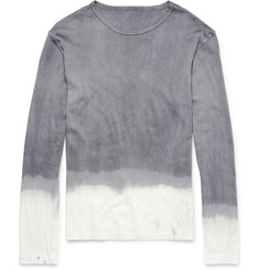 The Elder Statesman Dip-Dyed Cotton and Cashmere-Blend Long-Sleeved T-Shirt