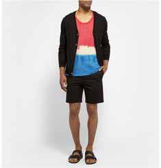 The Elder Statesman Tie-Dyed Basketweave Cotton Vest