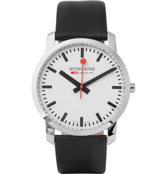 Mondaine Simply Elegant Polished-Steel Watch