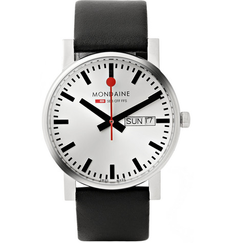 Mondaine Evo Day-Date Stainless Steel Watch