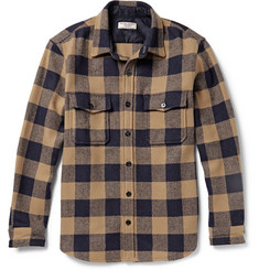 J.Crew Buffalo Checked Wool-Blend Overshirt
