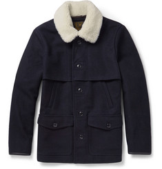 J.Crew Faux Shearling-Trimmed Wool-Felt Jacket