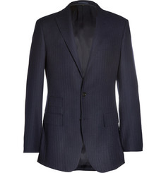 J.Crew Ludlow Navy Pinstriped Wool-Blend Suit Jacket
