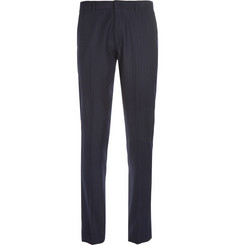 J.Crew Ludlow Navy Pinstriped Wool-Blend Suit Trousers