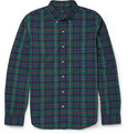 J.Crew - Slim-Fit Button Down-Collar Checked Cotton Shirt