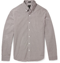 J.Crew Gingham-Check Cotton Shirt
