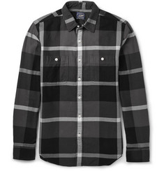 J.Crew Herringbone Plaid Cotton-Flannel Shirt