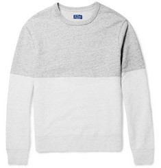 J.Crew Two-Tone Slubbed Cotton Sweatshirt