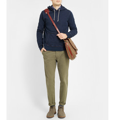 J.Crew Wallace & Barnes Denim-Effect Cotton-Terry Hoodie