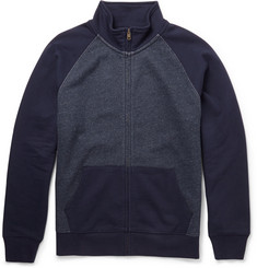 J.Crew Loopback Cotton-Jersey Zipped Sweatshirt