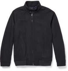 A.P.C. Waffle-Knit Wool-Blend Bomber Jacket