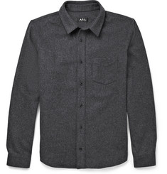 A.P.C. Wool-Blend Flannel Overshirt