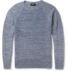 A.P.C. Knitted-Camel Crew Neck Sweater