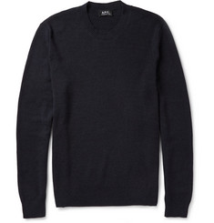 A.P.C. Wool and Cotton-Blend Sweater