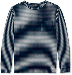 A.P.C. Striped Cotton-Blend T-Shirt