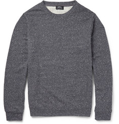 A.P.C. Donegal Cotton-Blend Jersey Sweatshirt