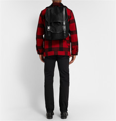A.P.C. Leather-Trimmed Cotton-Blend Backpack