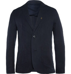 Folk Navy Vincent Slim-Fit Unstructured Cotton-Canvas Suit Jacket