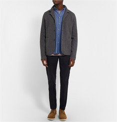 Folk Cotton and Wool-Blend Chambray Shirt