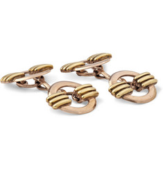 Foundwell Larter Art Deco Rose Gold and Green Gold Cufflinks