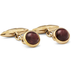 Foundwell 18-karat Gold Garnet Cufflinks