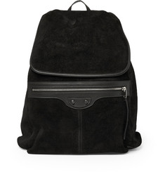 Balenciaga Leather and Suede Backpack