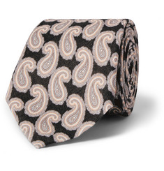 Gieves & Hawkes Paisley-Patterned Linen Tie