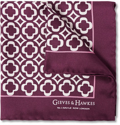 Gieves & Hawkes Patterned Silk Pocket Square