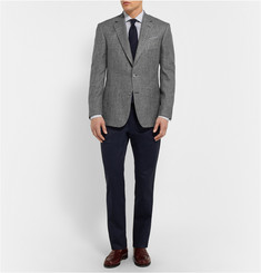 Gieves & Hawkes Grey Slim-Fit Silk, Linen and Wool-Blend Blazer