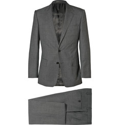 Gieves & Hawkes Grey Slim-Fit Wool Suit