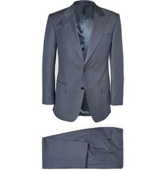 Gieves & Hawkes Blue Wool Suit