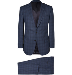 Gieves & Hawkes Navy Checked Wool Suit
