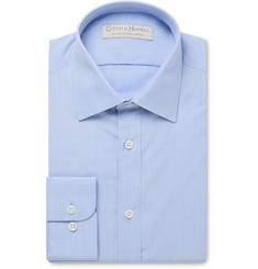 Gieves & Hawkes Blue Checked Cotton Shirt