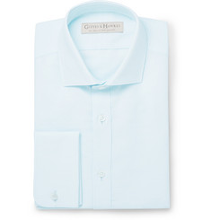 Gieves & Hawkes Blue Cotton and Linen-Blend Shirt