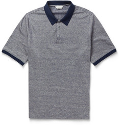 Gieves & Hawkes Cotton and Linen-Blend Polo Shirt