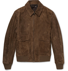Gieves & Hawkes Suede Bomber Jacket