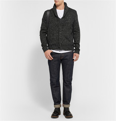 Rag & bone Landon Wool and Linen-Blend Shawl-Collar Cardigan