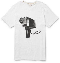 Rag & bone Camera-Print Slubbed Cotton-Jersey T-Shirt