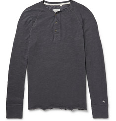 Rag & bone - Long-Sleeved Cotton-Jersey Henley T-Shirt