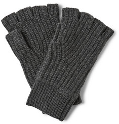 Rag & bone Carson Ribbed Cashmere Fingerless Gloves