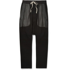 Rick Owens Drop-Crotch Silk Trousers