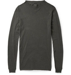 Rick Owens Crew Neck Cotton-Blend Sweater