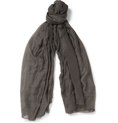 Rick Owens Cotton, Cashmere and Silk-Blend Scarf