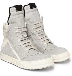 Rick Owens Panelled Suede High Top Sneakers