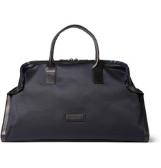 Alexander McQueen De Manta Nylon and Leather Holdall Bag