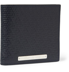 Alexander McQueen Textured-Leather Billfold Wallet