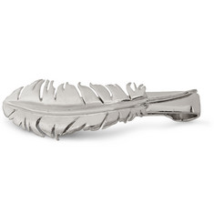 Alexander McQueen Silver-Plated Feather Tie Clip