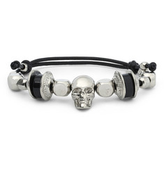 Alexander McQueen Beaded Leather Bracelet