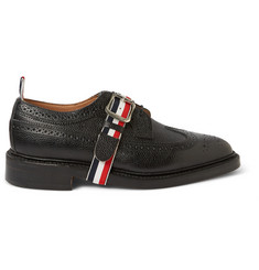Thom Browne Strap-Front Pebbled Leather Brogues