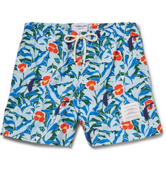 Thom Browne Floral-Print Washed Shell Swim Shorts